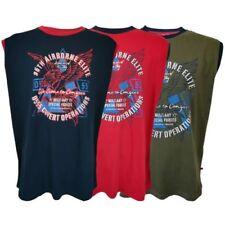 Mens T Shirt D555 Duke Big King Size Airborne Elite Print Toledo Sleeveless New