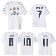 adidas Real Madrid Home WC Heimtrikot Badge 2015/2016 Ronaldo Bale Kroos James