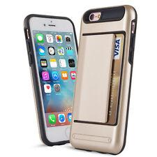 GOLD CLIP Case iPhone 5 6 7 Samsung Credit Card Storage Slide Wallet Slim ID