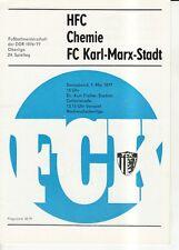 OL 76/77  FC Karl-Marx-Stadt - HFC Chemie