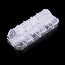 12 lots Plastic Jewelry Storage CLEAR Box Case Craft Organizer
