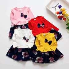 Baby Girls Dress Age 1-5 Years Old Kids Long Sleeve Mesh Princess Party Dress UK