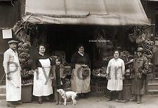 Photo ancien commerce Toulouse Magasin Primeur Fruits & Légumes repro an. 1920