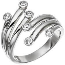 Ring Damenring aus 925 Silber mit 6 Zirkonia weiß Silberring Damen