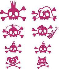 Skull Stick Rocker Family Crossbones Truck Car Tattoo Window Vinyl Decal Sticker