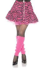 80's Zebra Womens Adult Pink Black Dance Rocker Costume Skirt