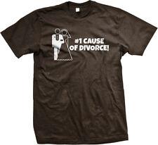 Number One #1 Cause Of Divorce Marriage Just Married Wedding Joke Men's T-Shirt