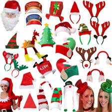 NOVELTY CHRISTMAS HATS FESTIVE FAMILY OFFICE PARTY SANTA ELF FANCY DRESS LOT