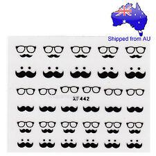Moustache Nail Art Sticker