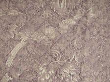 Antique French purple toile Alsace pelmet valance textile c1830 Ikat layer !