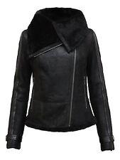 Womens Real Shearling  Sheepskin Leather Biker Jacket BNWT   Brandslock  Jackets