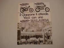advertising Pubblicità 1976 MALANCA 125 SPORT/SCRAMBLER