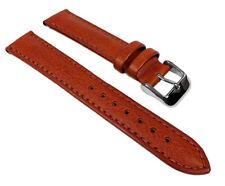 Herzog Soft-Kalb Ersatzband Uhrenarmband weiches Kalbsleder Braun / Honig 22907S