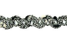 "Unotrim 5/8"" Italian Jute Braided Woven Trim Gray Black White Decorative Ribbon"