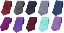 Luxury Plain Silk Men's Ties