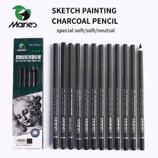 Marie's 12pcs Charcoal Pencil Painting Drawing Lapiz Set Student Stationery Art