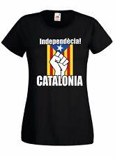 T-shirt Maglietta donna J2274 Independècia Catalogna Bandiera Catalunya Cataloni