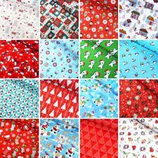 100% Cotton Fabric Christmas Xmas Collection Snowmen Festive Stars 135cm Wide