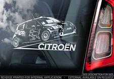 Citroen C2 WRC - Car Window Sticker - Sebastien Loeb World Rally Team Club - V02
