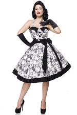 Vintage Swing Kleid Neckholer Vintage-Kleid Tellerrock Rockabilly 50er Jahre