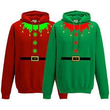 NATALE ELFO Suit Felpa Con Cappuccio-Little Santas helper NATALE ADULTO KIDS Felpa con Cappuccio Top