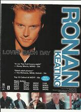 Boyzone RONAN KEATING Lovin Each day TRADE AD POSTER for Destination 2001 CD