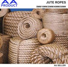 Natural Jute Rope Burlap Hemp Twine Cord Twisted String 5 10 20 40 50mm Craft