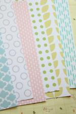 Spring Walk printed Card Stock 250gsm Pastel Floral Dots wedding craft postcards