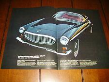 1965 VOLVO 1800 S ***ORIGINAL 2 PAGE AD***