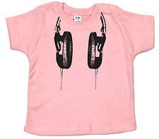 "Bebé DJ T-SHIRT ""Auriculares"" Camiseta Música Beats Festival Latas Clubbing"