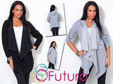 Womens Hooded Cardigan Long Sleeve Coat Bolero Jacket Blazer Top Size 8-12 8307A