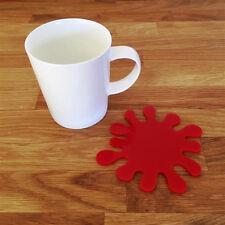 Splash Shaped Coaster Set - Red