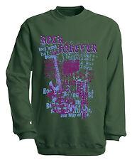 (10254-1 grün) Musik Sweatshirt S M L XL XXL 3XL 4XL Shirts - ROCK FOREVER