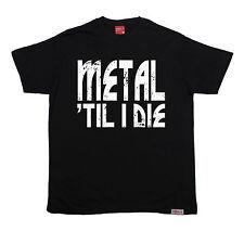 Metal Til I Die prohibido para hombres Camiseta Camiseta miembros Regalo de Cumpleaños Música Rock Pesado