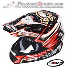 Casco Suomy Rumble Eclipse Rojo Motorrad Enduro Cross