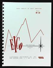 EICO Model HF-30 Hi-Fi Amplifier Operating and Construction Manual
