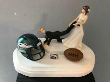 Philadelphia Eagles Cake Topper Bride Groom Wedding Day Funny Football Theme