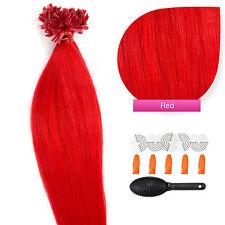 Keratin Bonding #red rot Hair Extensions 100% Echthaar Haarverlängerung