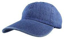Gelante Plain denim Adjustable Baseball Caps Jean Dad Hats Wholesale lot 6-12pcs