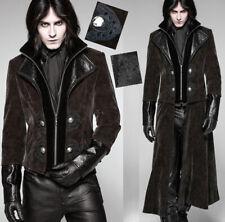 Manteau transformable veste steampunk gothique cuir gravé velours PunkRave homme