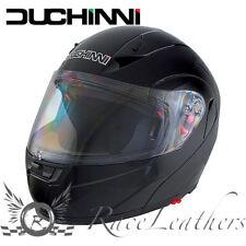 Duchinni D606 NEGRO BRILLANTE Mentonera Deslizante Moto Casco Visera