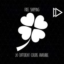 Four Leaf Clover Heart Vinyl Decal Sticker Car Laptop Macbook Pro - Irish Flower