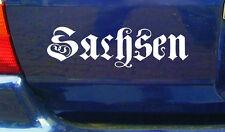 cartattoo4you AK-01599 SACHSEN - Fraktur * Aufkleber altdeutsche Schrift Tuning