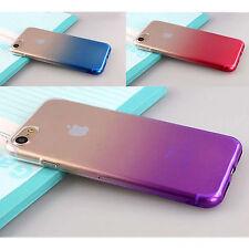 CUSTODIA COVER ULTRA SOTTILE Gradiente VARI COLORI CHIARA dura per iphone apple