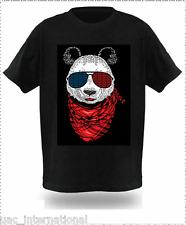 LED Sound Activated EL T Shirt/Light up Shirt with Mixes a Silk Screen - 106