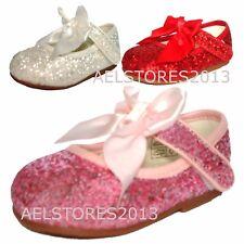 Filles Demoiselles d'honneur nœud ruban Party Chaussures Chaussures vernies Enfant Tailles UK 2,3,4,5,7