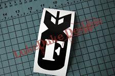 F BOMB V2 Sticker Decal Vinyl JDM Euro Drift Lowered illest Fatlace Vdub