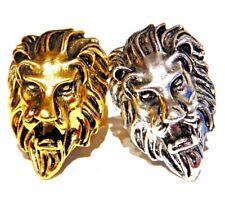 LION HEAD RING big cat king of the jungle roaring Africa biker Lannister punk 6B