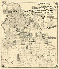 Old City Map - Sacramento California Landowner - Anderson 1908 - 23 x 26.81