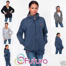 Ladies Hoodie With Zip & Pockets Sweatshirt Activewear Jacket Size 8-12 FT1447